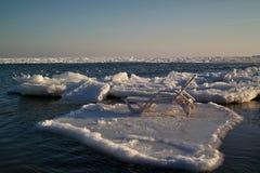 Салон фаэтона на ледяном поле Стоковое Изображение RF