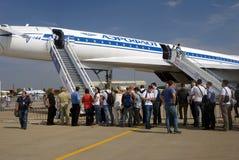 Салон MAKS международный космический Ретро самолет Tu-144 Стоковые Фотографии RF