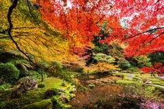 Сад осени на Nanzen-ji, Киото Стоковые Изображения RF