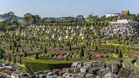Сад Паттайя Nong Nooch тропический Стоковые Фотографии RF