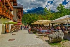 Сад пива деревни Konigsee баварский Стоковые Фотографии RF