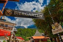 Сад пива деревни Konigsee баварский Стоковые Изображения