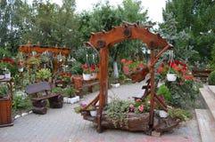 Сад с цветками Стоковые Изображения RF