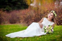 Сад травы невесты Стоковые Изображения RF