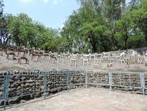 Сад утеса Чандигарха, Индии Стоковые Изображения RF