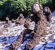 Сад утеса Чандигарх Nek Chand Индия стоковое фото