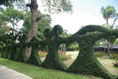 Сад фантазии загородки куста сердца Стоковое Фото