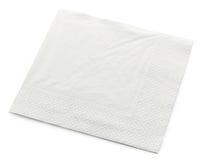 Салфетка белой бумаги Стоковые Изображения