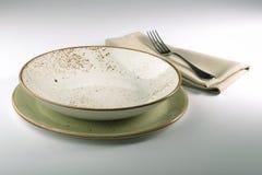 Салфетка и вилка плиты кобуры Стоковое Изображение