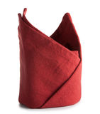 Салфетка обедающего Hemstitched красная linen Стоковое Фото