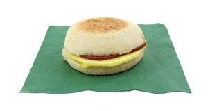 Салфетка сыра бекона Турции английской булочки Стоковое Фото
