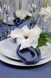 Салфетка украшенная с цветком Стоковое Изображение