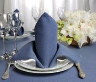 Салфетка украшенная с цветком Стоковые Фотографии RF