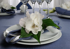 Салфетка украшенная с цветком Стоковые Изображения