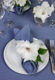 Салфетка украшенная с цветком Стоковая Фотография
