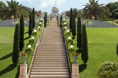 Сад Хайфы Bahai Стоковое фото RF