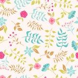 сад цветков лезвия предпосылки красивейший картина безшовная Стоковое фото RF