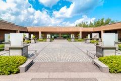 Сад Чикаго ботанический, зона собрания бонзаев, США Стоковое Изображение