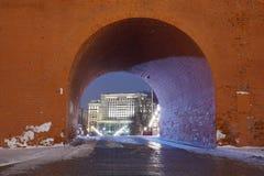Сады Александра и башня Кремль Troitskaya Стоковые Фото