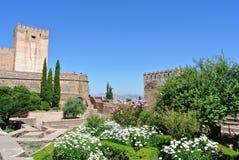 Сады Альгамбра, Гранада Стоковая Фотография RF