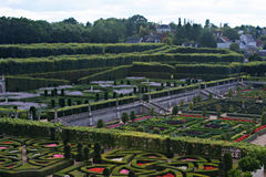 Сады замка Villandry a стоковое изображение rf