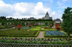Сады и Замок de Villandry Стоковое фото RF