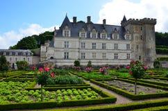 Сады и Замок de Villandry Стоковые Изображения RF