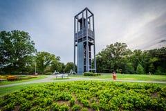 Сады и нидерландский карильон, в Арлингтоне, Вирджиния стоковые фотографии rf
