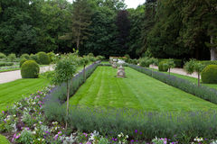 Сады на замке Chenonceau в Loire Valley стоковое фото