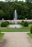 Сады на замке Chenonceau стоковое фото rf