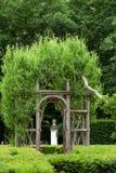 Сады на замке Chenonceau стоковые фотографии rf