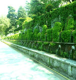 Сады dEste виллы (Tivoli - Италия) Стоковая Фотография