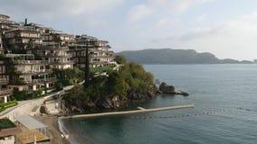 Сады Dukley роскошной гостиницы сложные в Budva, Черногории больш видеоматериал