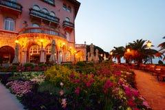 Сады Opatija на зоре стоковые фотографии rf