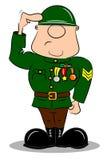 Салютуя солдат шаржа Стоковые Фотографии RF