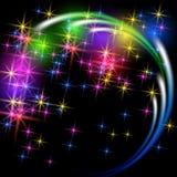Салют и фейерверк с звездами искры иллюстрация вектора