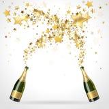 Салют шампанского иллюстрация вектора