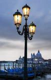 Салют della Santa Maria Di базилики на сумраке в Венеции, Италии Стоковое Изображение RF