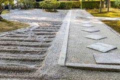Сад японского стиля в Киото Стоковые Фотографии RF