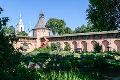 Сад Apothecary монастыря спасителя St Euthymius, России, Suzdal Стоковые Изображения