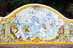 Сад Augustus Капри, Италии Стоковое фото RF