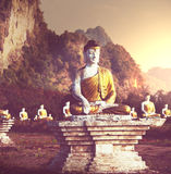 Сад Buddhas стоковое изображение rf