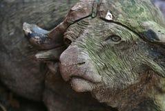 Сад Bull выдержанный гномом Стоковая Фотография