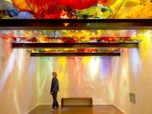 Сад Chihuli и музей стекла на Сиэтл - персидском потолке стоковые изображения rf