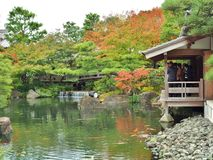 сад Koko-en в Himeji, префектуре Hyogo, Японии стоковое изображение