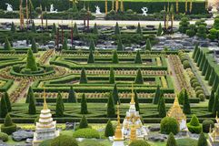 Сад Nong Nooch в Паттайя стоковое фото rf