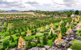 Сад Nong Nooch тропический ботанический в Таиланде Стоковые Фотографии RF