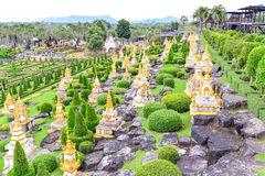 Сад Nong Nooch тропический ботанический в Таиланде Стоковые Фото