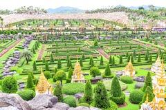 Сад Nong Nooch тропический ботанический в Таиланде Стоковая Фотография RF