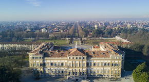 Сад Reale виллы, Монца, Италия Стоковое Фото